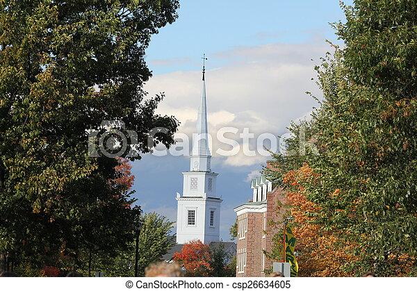 new england church - csp26634605