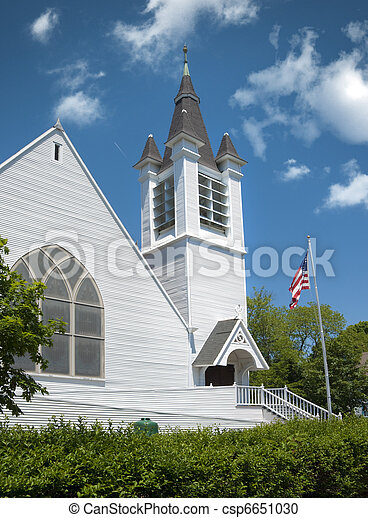 New England church - csp6651030