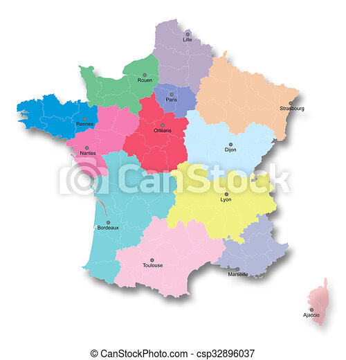 New french territorial reform illustration of the new map of france illustration of the new map of france gumiabroncs Images