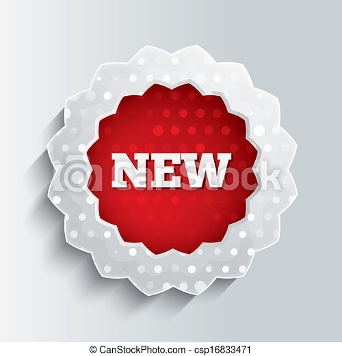 New glass star button. Special offer icon. - csp16833471