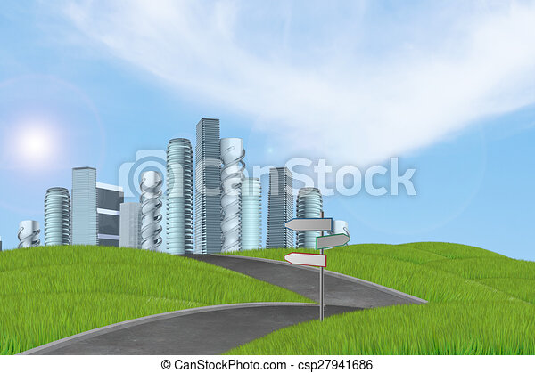 New high-rise buildings - csp27941686