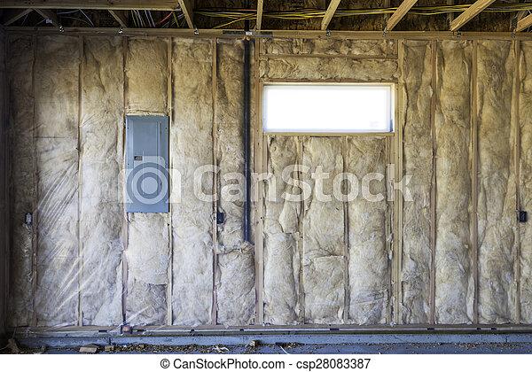 New home construction detal garage Garage Electrical Panel on
