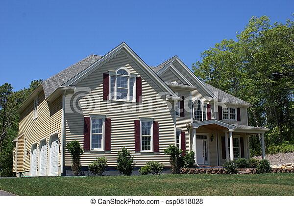 New home construction. - csp0818028