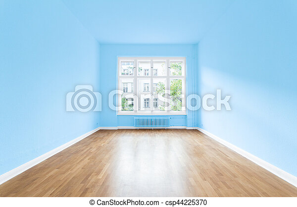 new home empty room painted walls empty apartment room sky