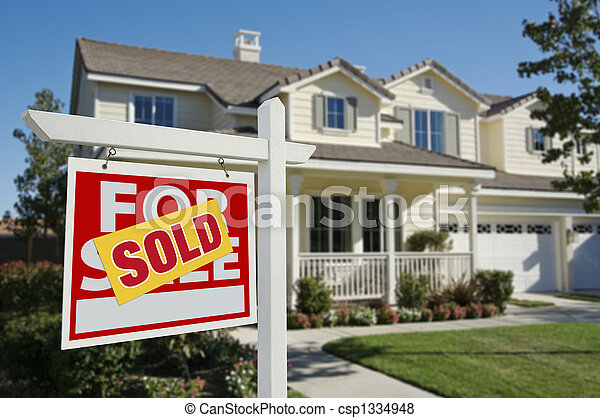 New Home Sold Sign - csp1334948