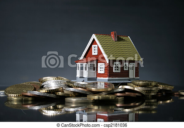 New house and lots of money. - csp2181036