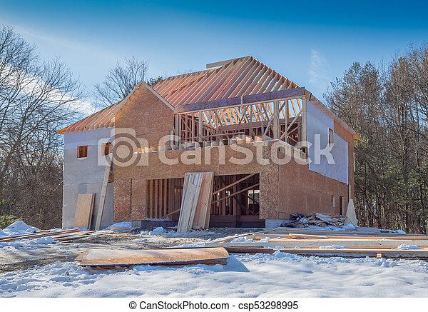 New house construction - csp53298995