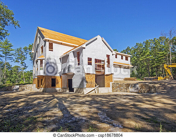 New house construction - csp18678804