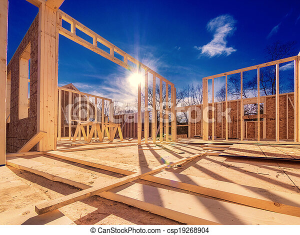 New house construction - csp19268904