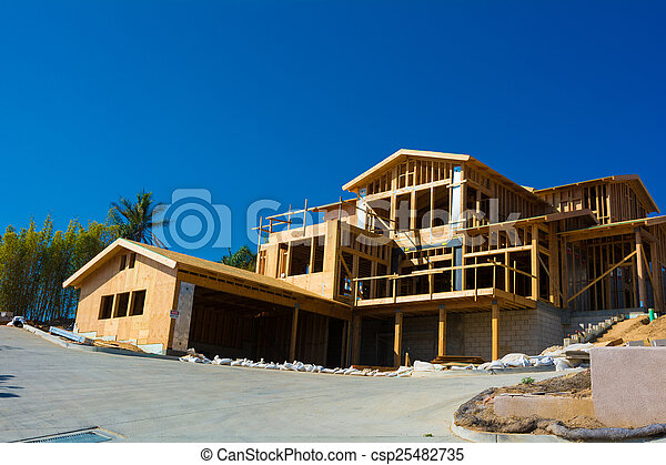 New house construction  - csp25482735