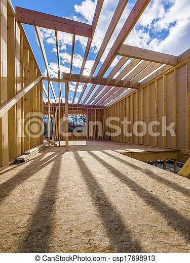 New house framing construction - csp17698913