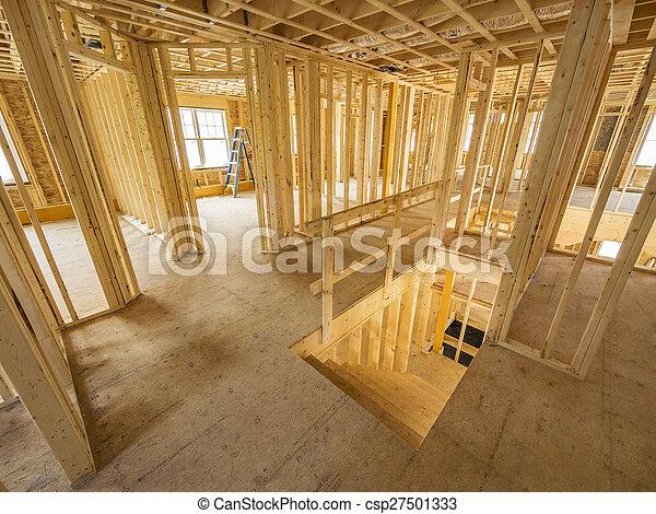 New house interior construction - csp27501333