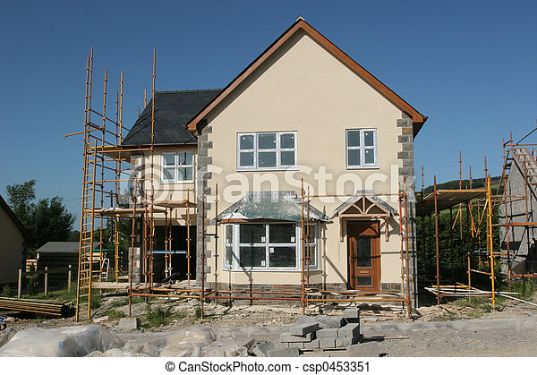 New House Under Construction - csp0453351
