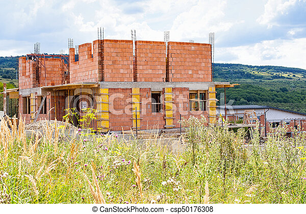 New house under construction - csp50176308