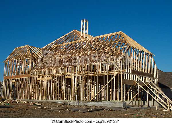 New House under Construction - csp15921331