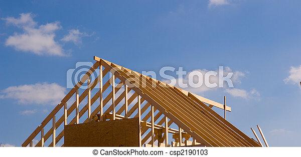 New house under construction - csp2190103