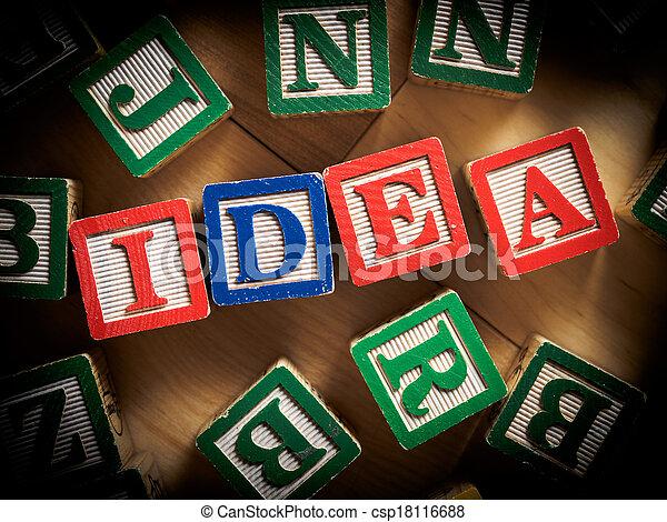 New idea concept - csp18116688