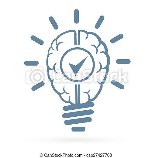 New Idea Human Brain Lightbulb   Csp27427768