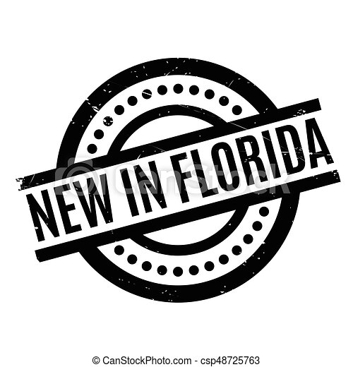 New In Florida rubber stamp - csp48725763
