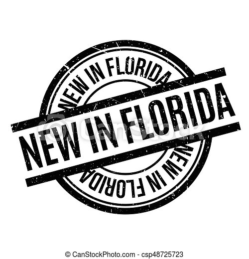 New In Florida rubber stamp - csp48725723