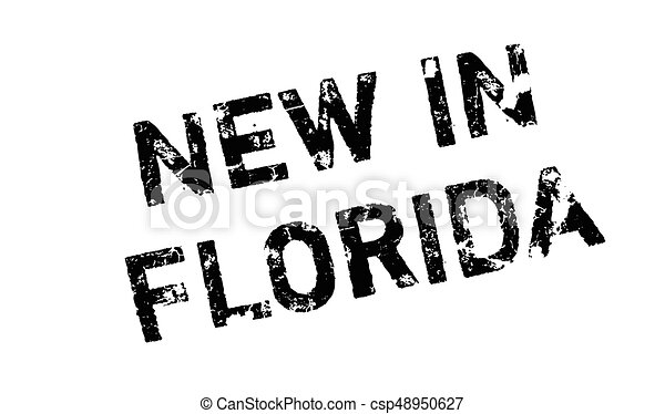 New In Florida rubber stamp - csp48950627