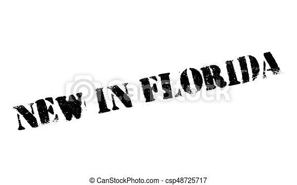 New In Florida rubber stamp - csp48725717