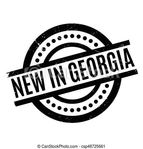 New In Georgia rubber stamp - csp48725661