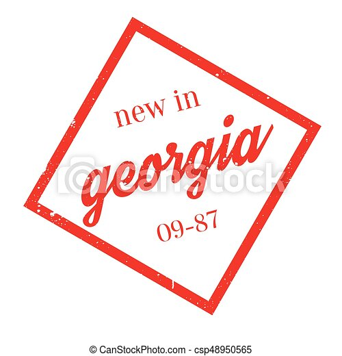 New In Georgia rubber stamp - csp48950565