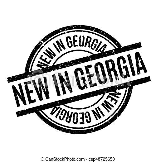 New In Georgia rubber stamp - csp48725650