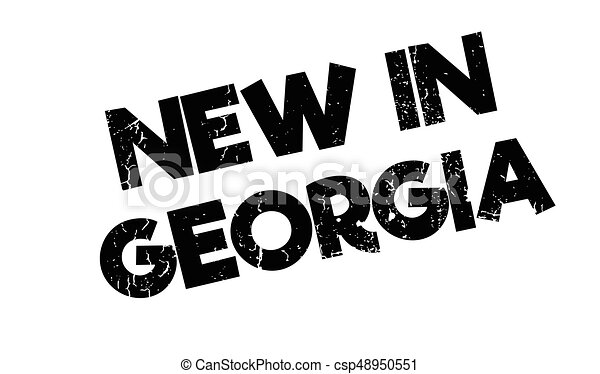 New In Georgia rubber stamp - csp48950551