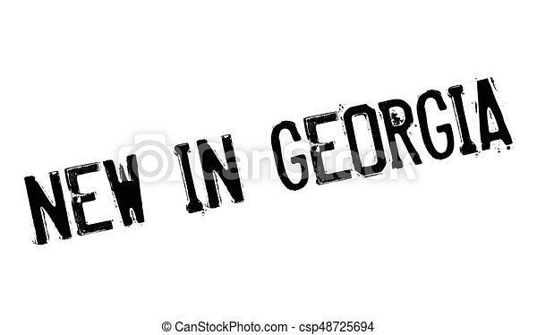 New In Georgia rubber stamp - csp48725694