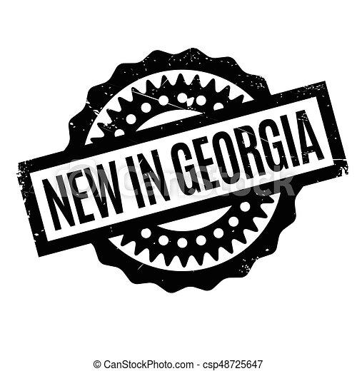 New In Georgia rubber stamp - csp48725647