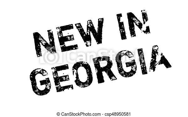 New In Georgia rubber stamp - csp48950581