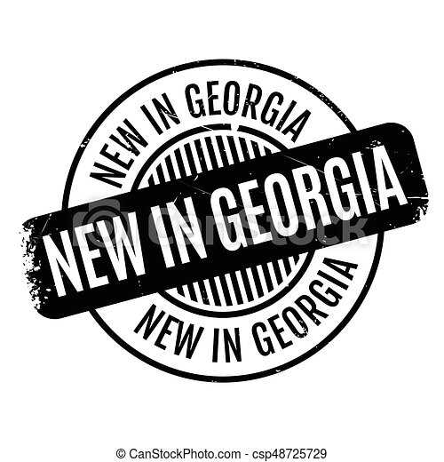 New In Georgia rubber stamp - csp48725729