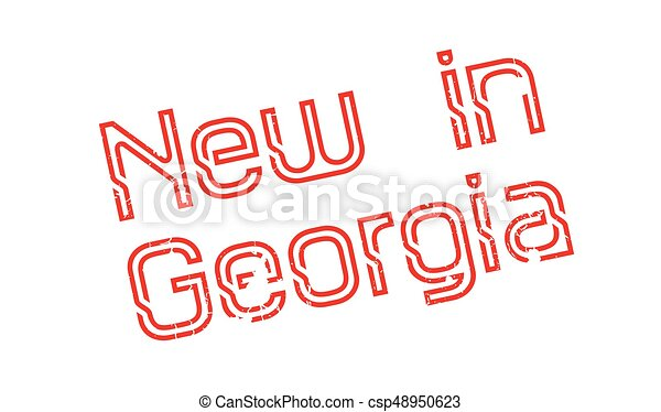 New In Georgia rubber stamp - csp48950623