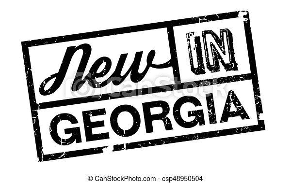 New In Georgia rubber stamp - csp48950504