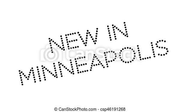 New In Minneapolis rubber stamp - csp46191268