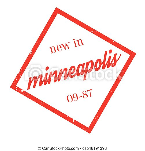 New In Minneapolis rubber stamp - csp46191398