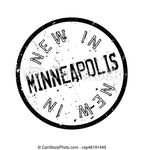New In Minneapolis rubber stamp - csp46191449