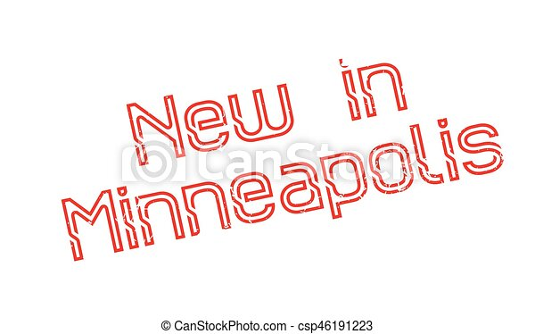 New In Minneapolis rubber stamp - csp46191223