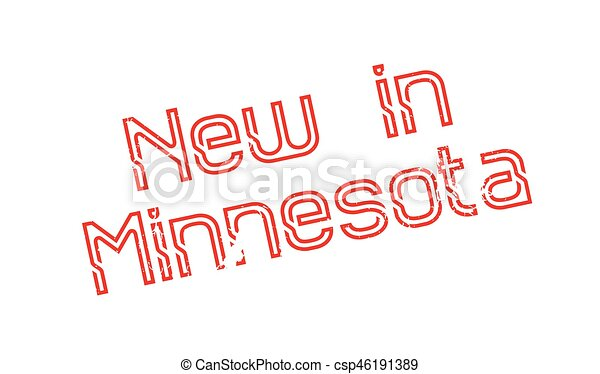 New In Minnesota rubber stamp - csp46191389