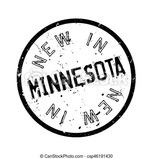 New In Minnesota rubber stamp - csp46191430