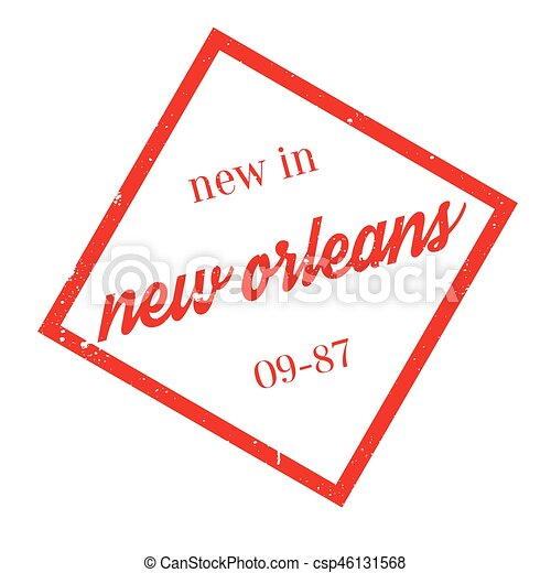 New In New Orleans rubber stamp - csp46131568