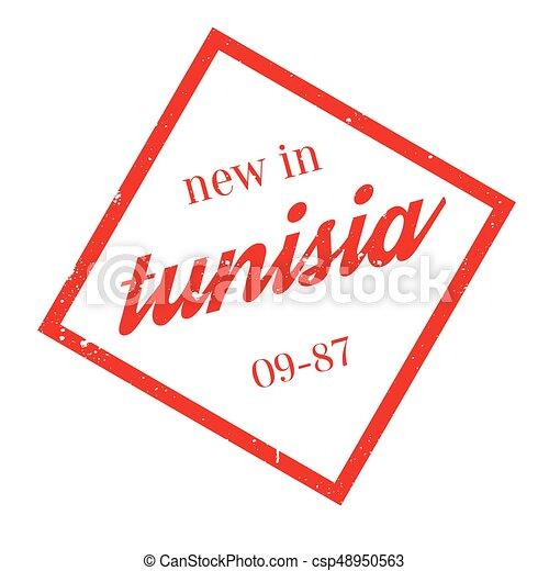 New In Tunisia rubber stamp - csp48950563