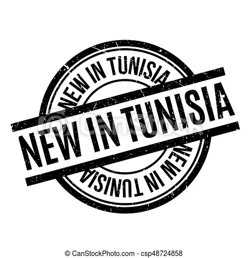 New In Tunisia rubber stamp - csp48724858