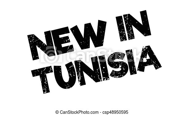 New In Tunisia rubber stamp - csp48950595