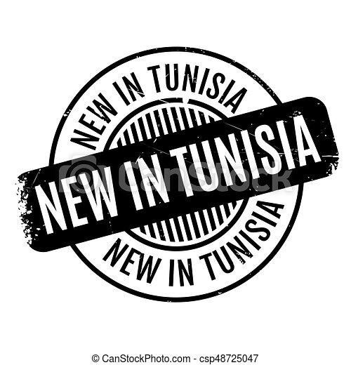 New In Tunisia rubber stamp - csp48725047