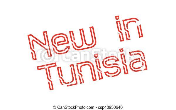 New In Tunisia rubber stamp - csp48950640
