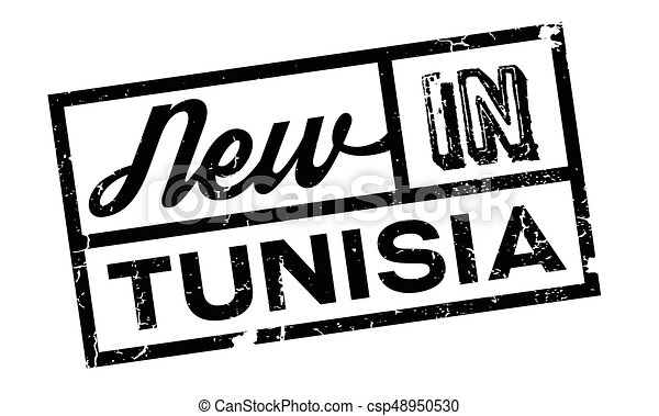 New In Tunisia rubber stamp - csp48950530
