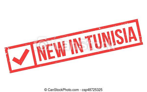 New In Tunisia rubber stamp - csp48725325